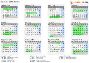 Kalender 2018 Mit Feiertagen Kalender 2018 Ferien Bayern Feiertage