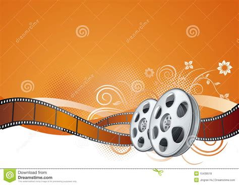 movie themes pictures film strip movie theme element stock vector illustration