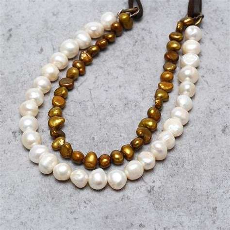 Handmade Bib Necklace - aobei pearl handmade bib necklace with freshwater pearl