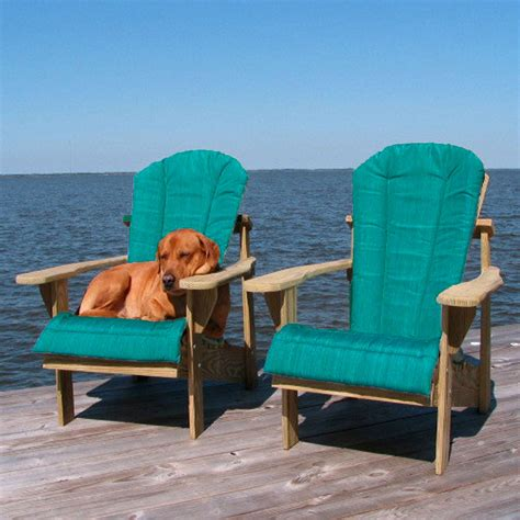 Teal Adirondack Chairs by Shop Teal Adirondack Chair Cushion Weathercraft