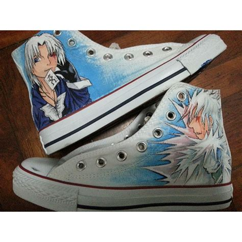Kaos Anime Vans Grey 1 custom anime vans lilo and stitch shoes anime vans painted shoes