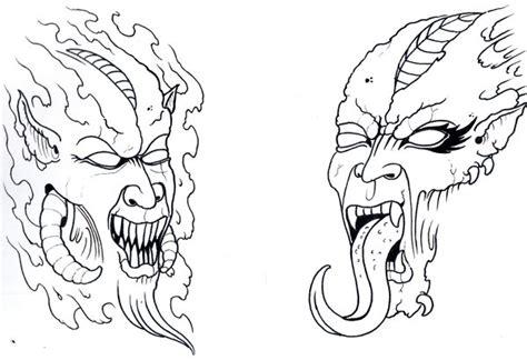 demon flash outline by vikingtattoo on deviantart