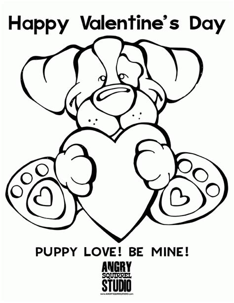 puppy love coloring pages coloring home