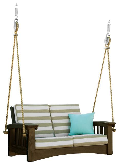 mission porch swing shop houzz hershy way cypress mission lounge rope swing