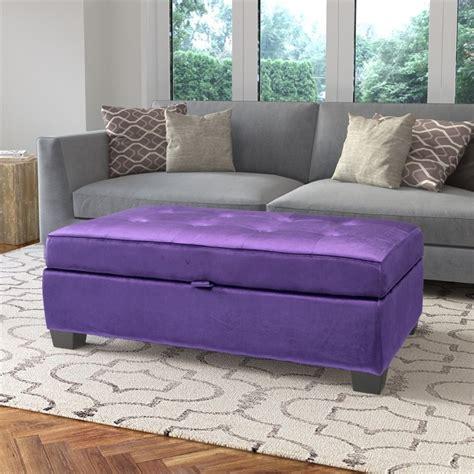purple velvet ottoman antonio storage ottoman in purple velvet ebay