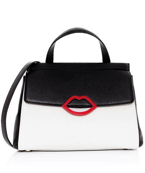 Lulu Guinness Shaped Handbags by Lulu Guinness Black Grain Leather Gertie Bag Jules B