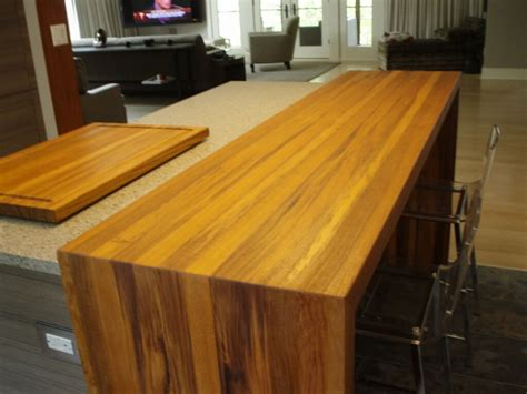 diy wood waterfall countertop standard plank wood countertops by custom