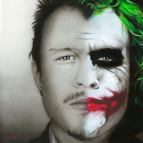 heath ledger joker painting by christian chapman art