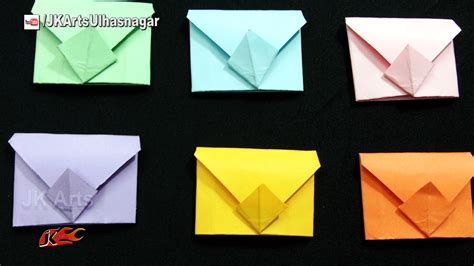 Origami Mini Envelope - diy mini envelopes origami for scrapbook page jk arts