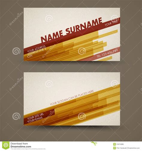 retro photo card templates vector style retro vintage business card template