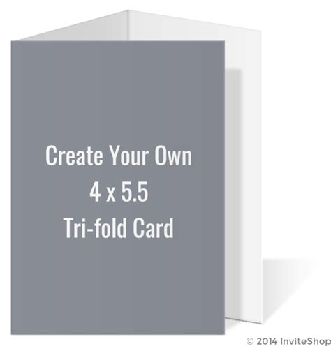 4 X 5 5 Folded Card Template by Create Your Own 4x5 5 Tri Fold Card Create Your Own