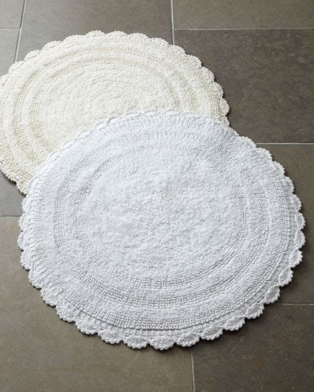 Cobra Trading Crochet Border Bath Rugs Crochet Bathroom Rug