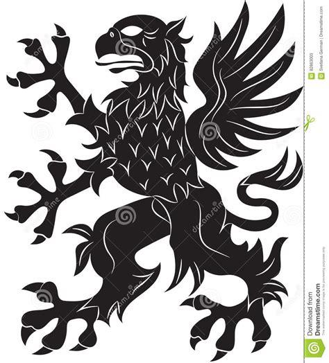 grifo heraldica griffin heraldry symbol stock vector illustration of flag