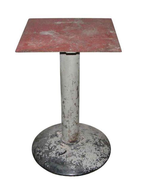 metal pedestal table base vintage industrial metal pedestal table base olde