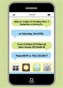 birthday text invitation messages social media texting birthday invitations candles and favors