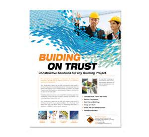 Construction Flyer Templates industrial commercial construction flyer template