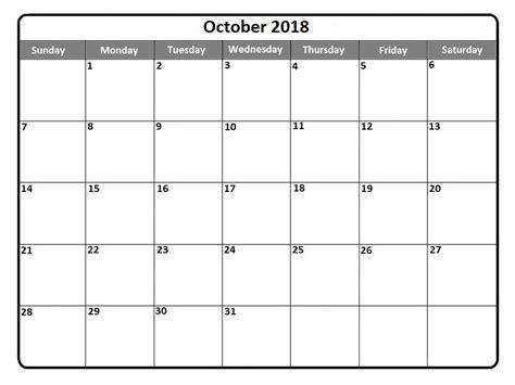 printable calendar 2018 october october 2018 calendar october 2018 printable calendar