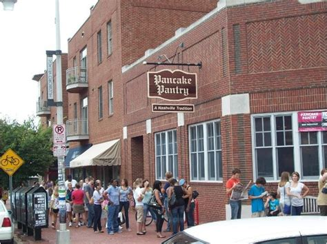 Pancake Pantry Nashville Tennessee queue for the pancake pantry in nashville tennessee for it s sugar spice pancakes