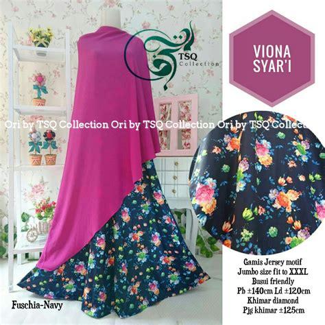 Syari Jumbo baju gamis jumbo viona syar i busana muslim motif bunga