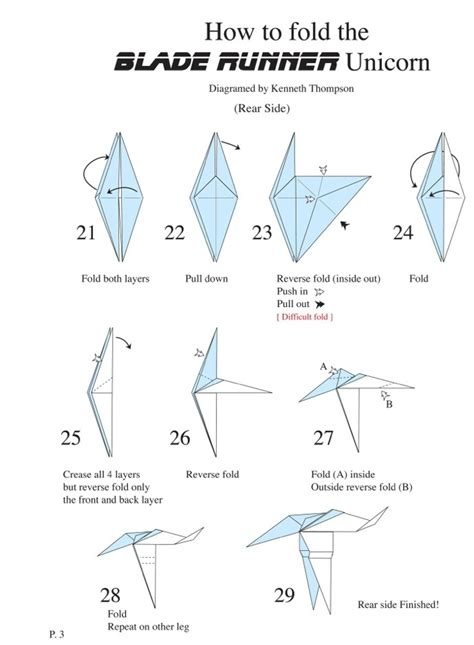 How To Make A Paper Unicorn - diagrams