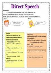 direct speech worksheet by nermien