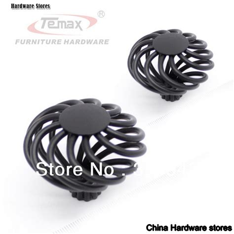 Wholesale Kitchen Faucets 30pcs Kids Furniture Vintage Antique Birdcage Black Iron Nickel Cabinet Knobs Handles Dresser