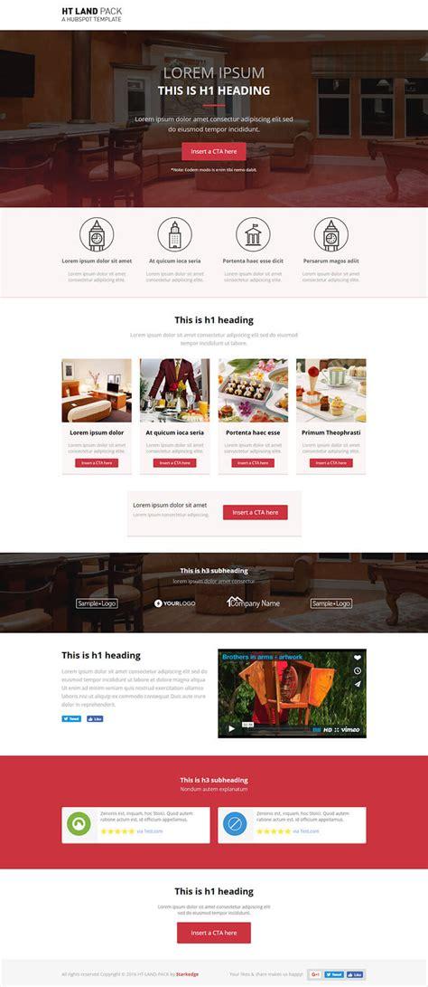 späht ht land hotel spa landing page templates