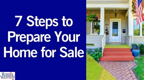 7 steps to prepare your home for sale womble