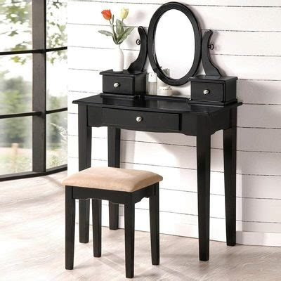 black vanity with mirror and bench lovely oval mirror antique black vanity set make up table