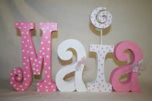 Decorated Letters For Nursery Baby Shower Decoration 4 Wood Letters By Woodenwondersshop On Etsy