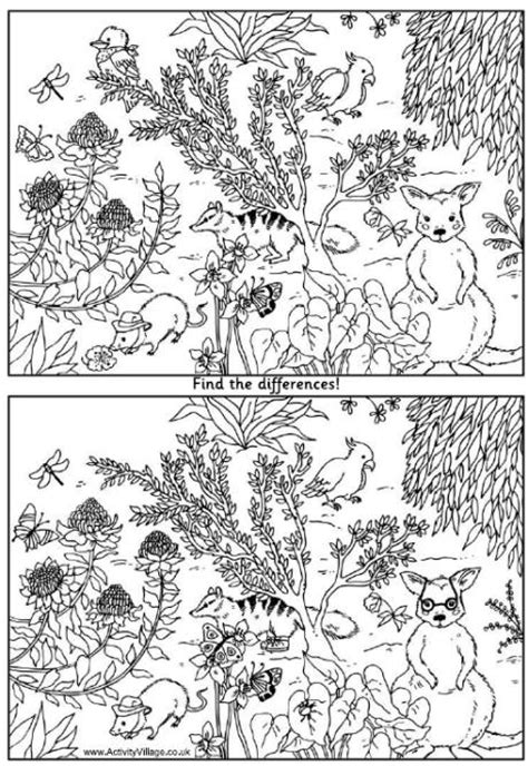 1 picture puzzles for a find the differences book activity books for ages 4 8 volume 1 books australian animals find the differences