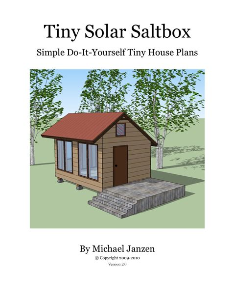 small solar house plans tiny solar saltbox cover