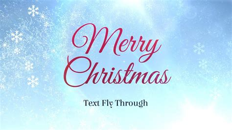Merry Christmas Text Flythrough Free After Effects Template Youtube Merry Templates