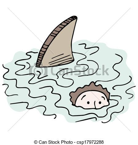 swimming illustrations and clipart can stock photo vector of swimming with shark an image of a man swimming