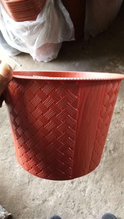 jual pot plastik motif anyaman pot bunga vas bunga