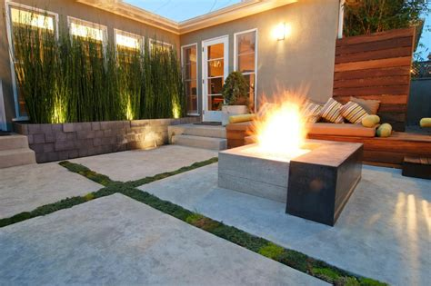 modern patio design 10 amazing backyard fire pits for every budget hgtv s