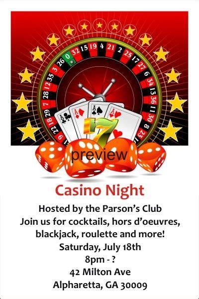 save  date email casino night birthday casino night