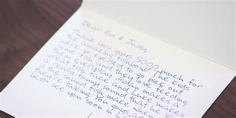 Handwritten Thank You Note For Donation How To Write A Killer Customer Thank You Note