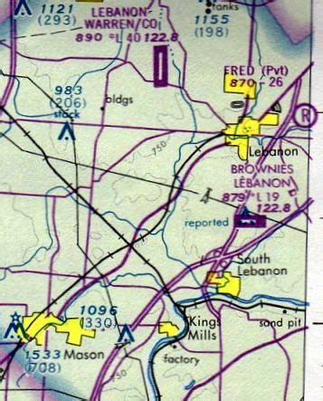 cincinnati sectional chart abandoned little known airfields southwestern ohio