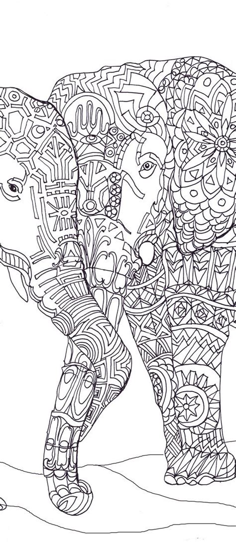 free printable elephant art elephant clip art coloring pages printable adult coloring