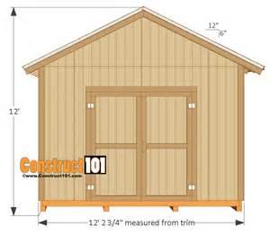 12x16 shed plans gable design pdf construct101