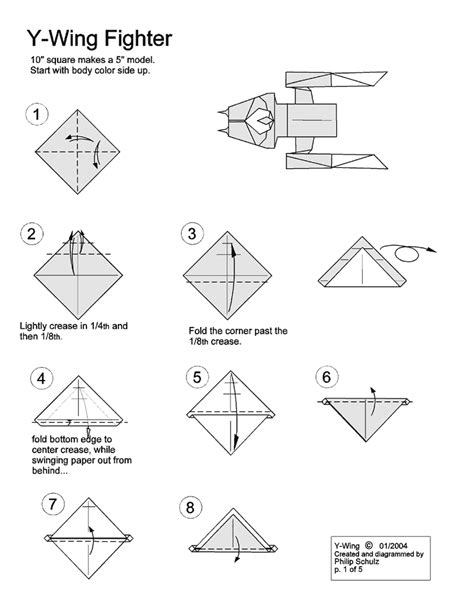 How To Make A Origami Wars Ship - wars origami diagrams free engine image for