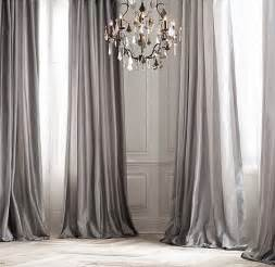 Striped Silk Fabric For Curtains Silk Taffeta Pavilion Stripe Drapery With Zinc Furnishings Drool Set In The Gray