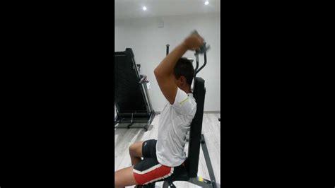 Triceps Banc by Triceps Assis Sur Banc 224 Un Halt 232 Re Au Dessus De La T 234 Te