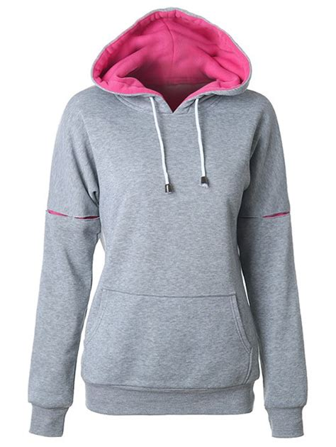 Two Tone Pullover Hoodie Blue Xl two tone raglan sleeve pullover hoodie in gray