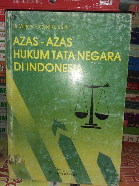 asas asas hukum tata negara  indonesia  wirjono