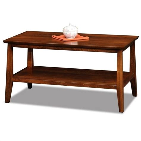 leick delton small solid wood coffee table in 10403