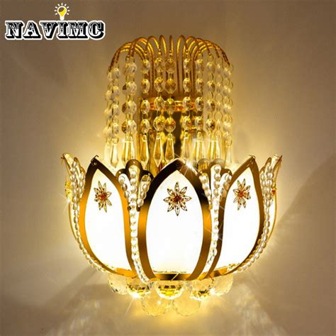 gold crystal wall lights gold crystal led wall sconces ls for bedroom living