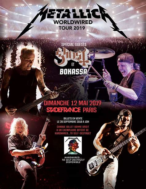 metallica paris 2019 agenda concerts metal metallica tour 2019 12 05 2019