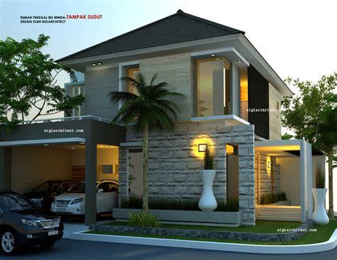 Rumah Pedesaan Sederhana Skala 64 model rumah hook 2 lantai
